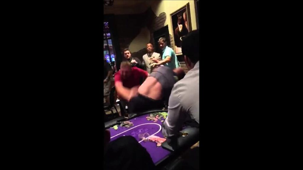 fight at casino poker table